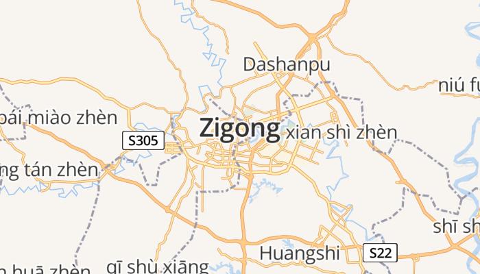 Zigong online kaart