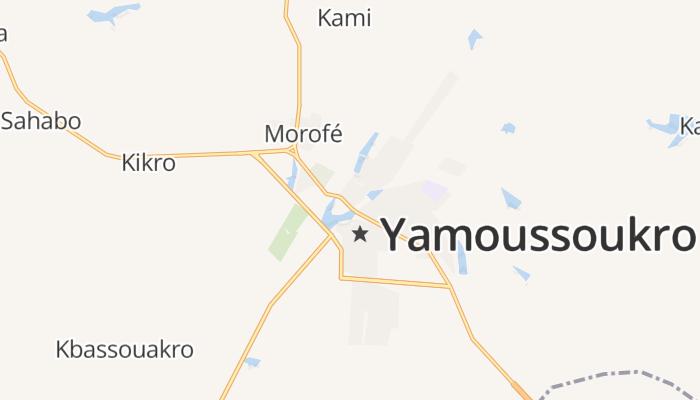 Yamoussoukro online kaart