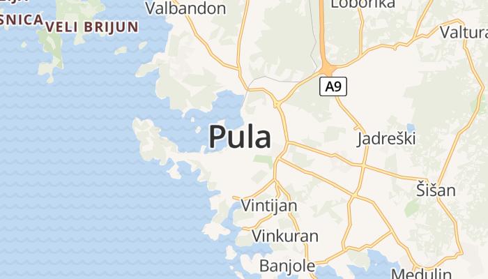 Pula online kaart