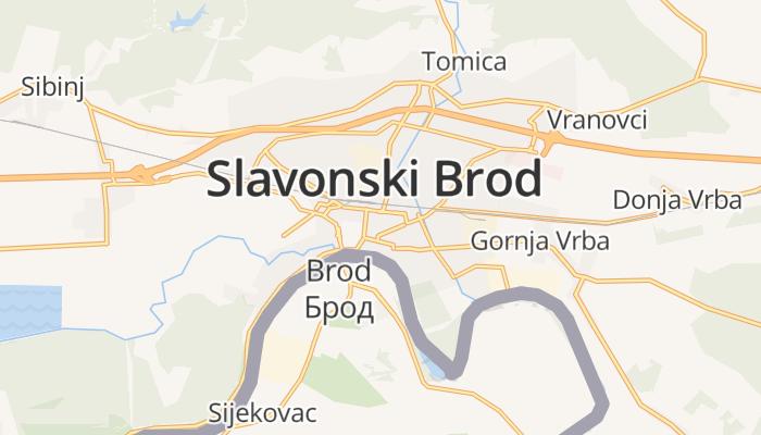 Slavonski Brod online kaart