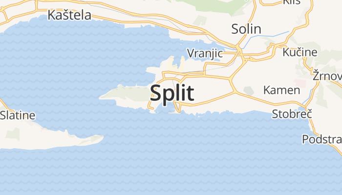 Split online kaart