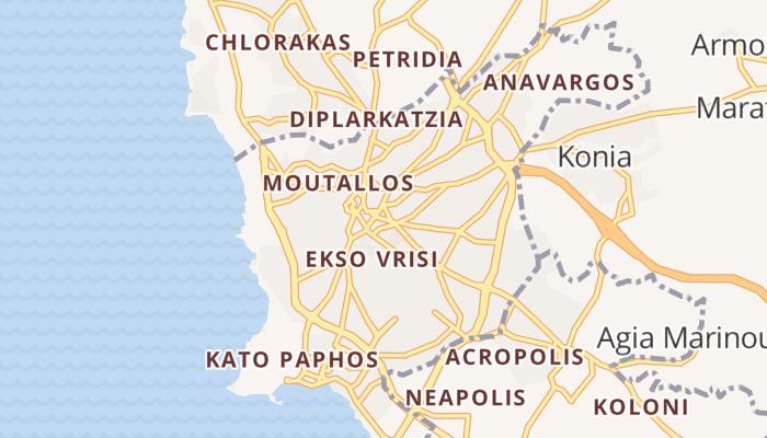 Paphos online kaart