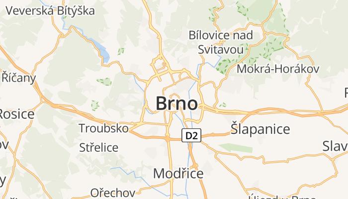 Brno online kaart