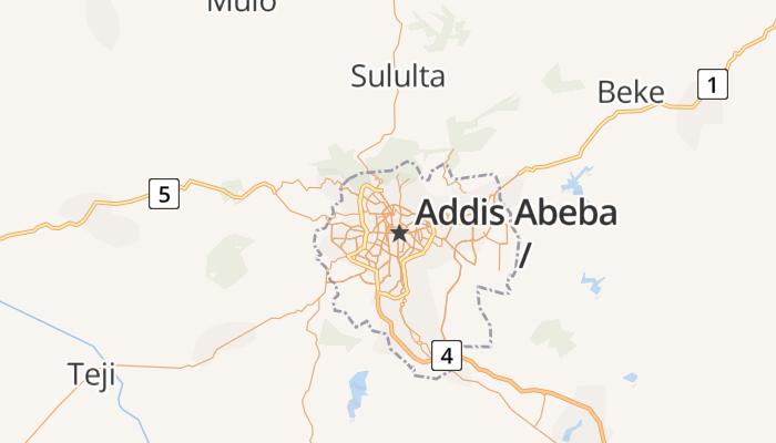 Addis Abeba online kaart