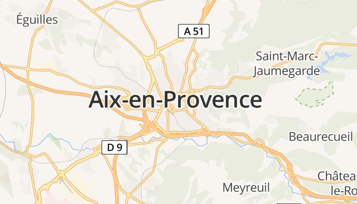 Aix-en-Provence online kaart