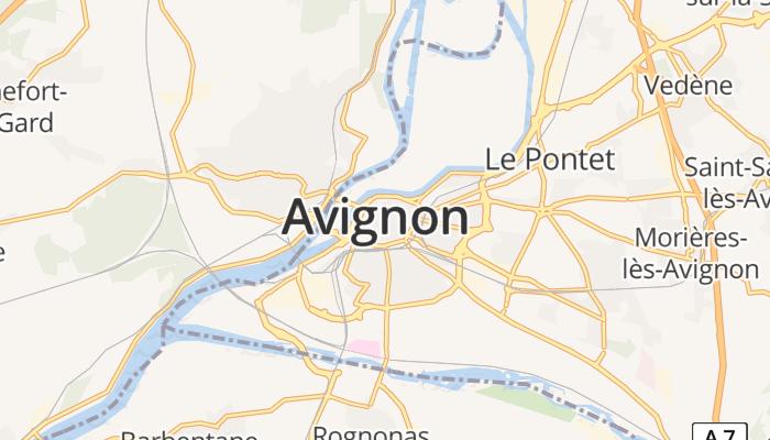 Avignon online kaart