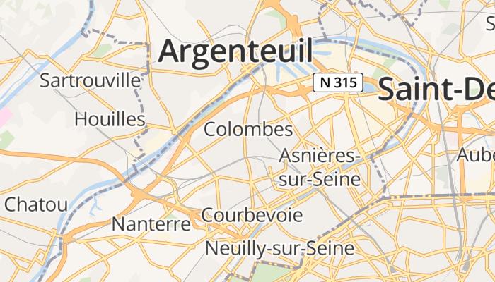 Colombes online kaart