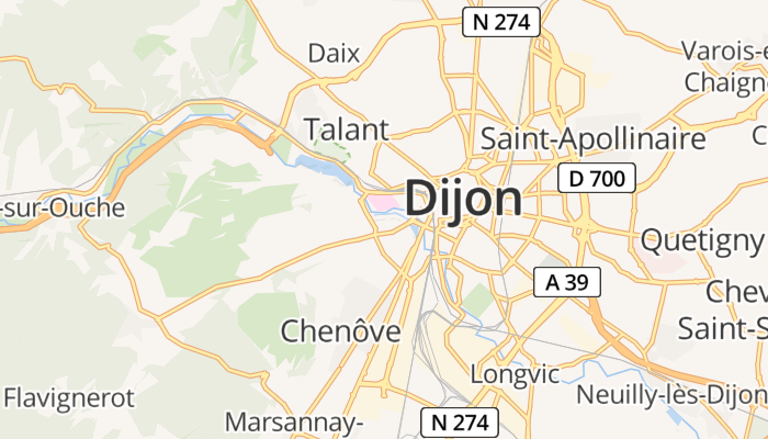 Dijon online kaart