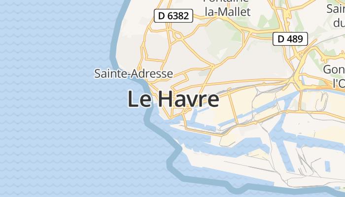 Le Havre online kaart