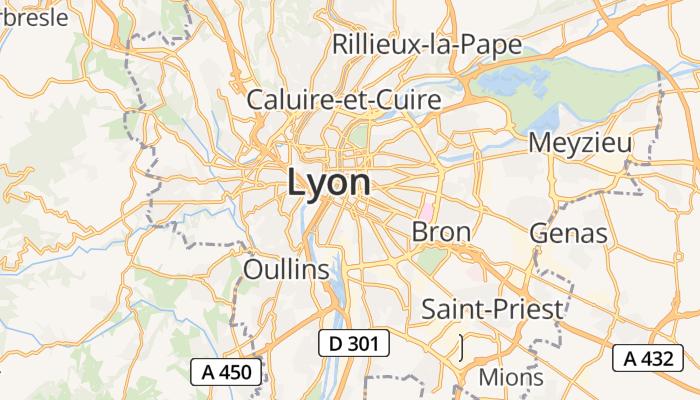Lyon online kaart