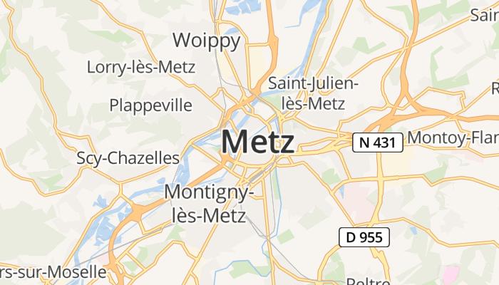 Metz online kaart
