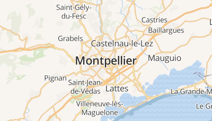 Montpellier online kaart