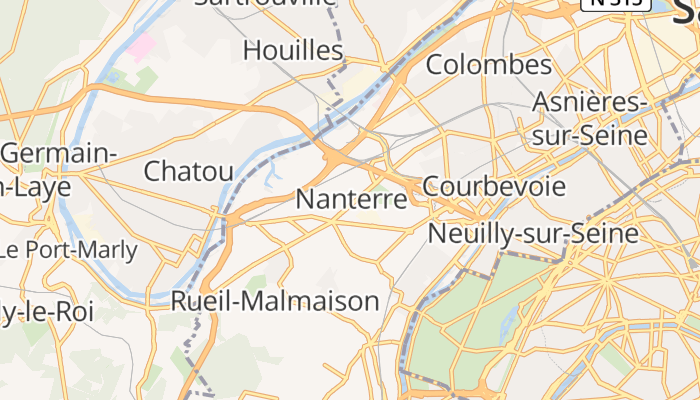 Nanterre online kaart