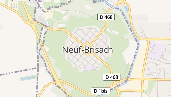 Neuf-Brisach online kaart