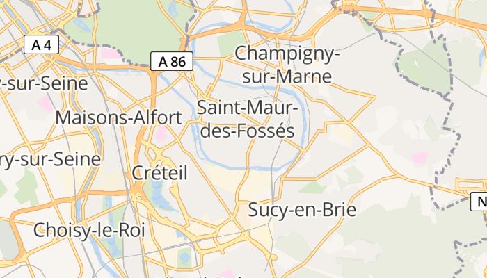 Saint-Maur-des-Fossés online kaart