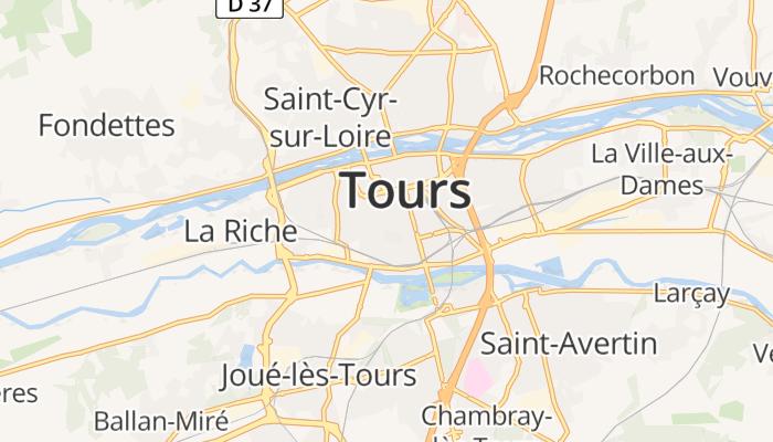 Tours online kaart