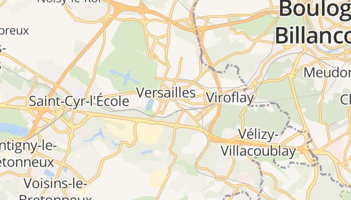 Versailles online kaart