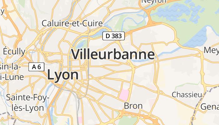 Villeurbanne online kaart
