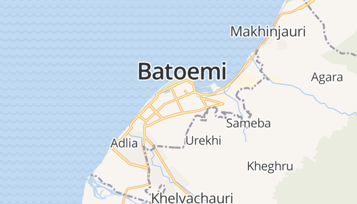 Batoemi online kaart