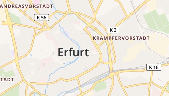 Erfurt online kaart