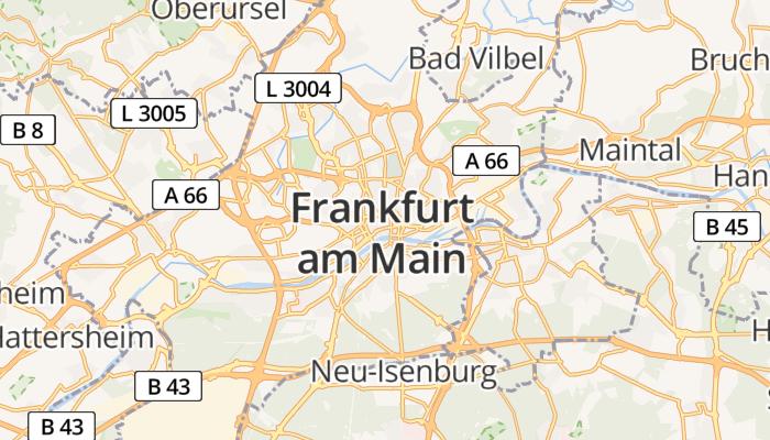 Frankfurt am Main online kaart