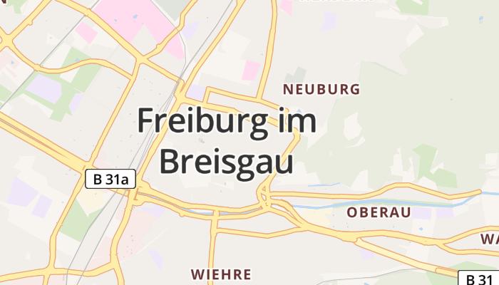 Freiburg im Breisgau online kaart