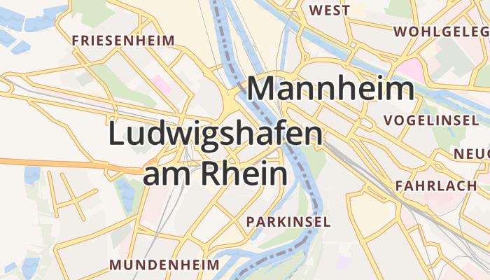 Ludwigshafen am Rhein online kaart