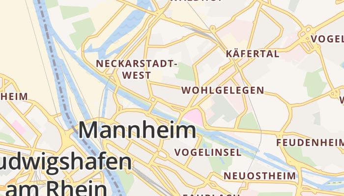 Mannheim online kaart
