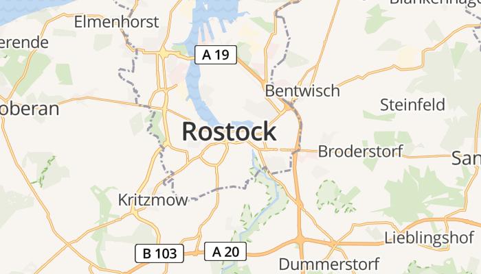 Rostock online kaart