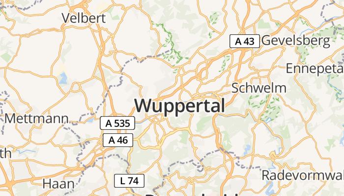 Wuppertal online kaart