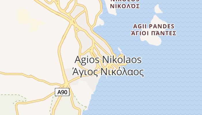 Agios Nikolaos online kaart