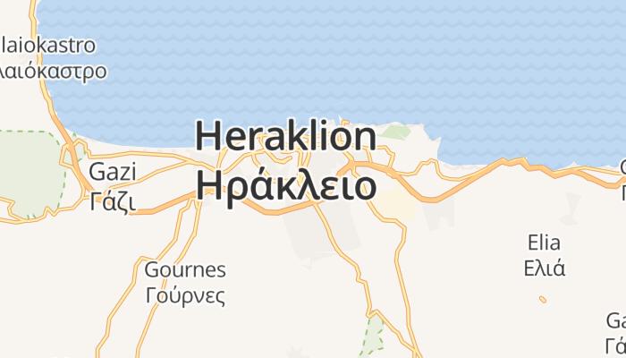 Iraklion online kaart