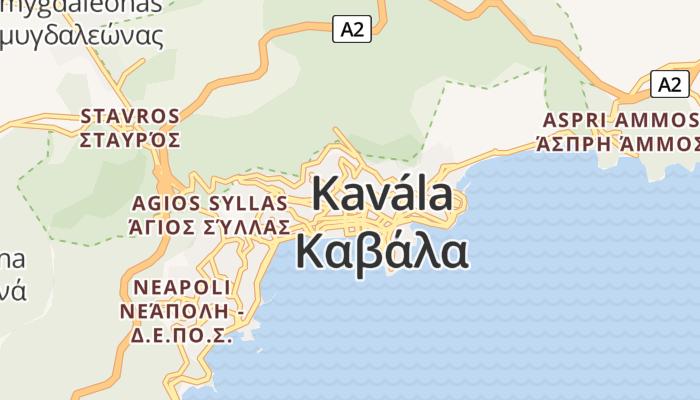 Kavála online kaart