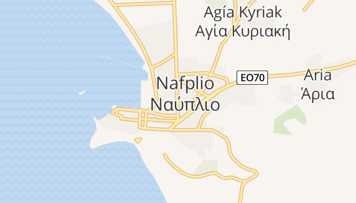 Nauplion online kaart