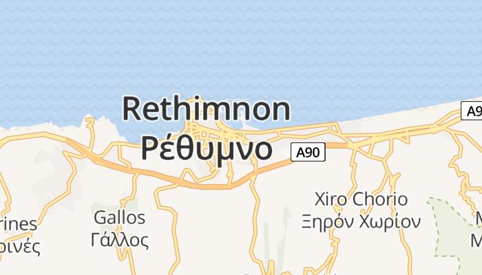 Rethimnon online kaart