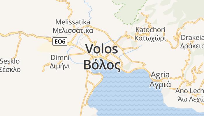 Volos online kaart