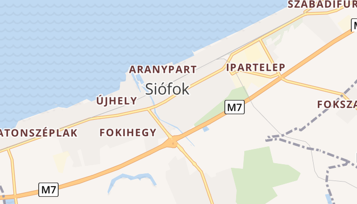 Siófok online kaart