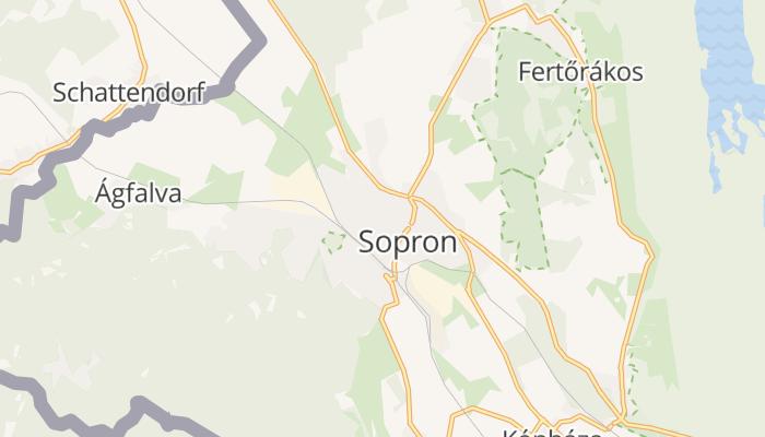 Sopron online kaart