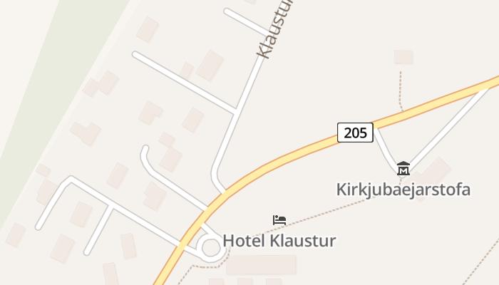 Kirkjubæjarklaustur online kaart