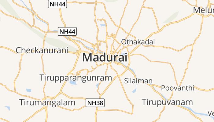 Madurai online kaart