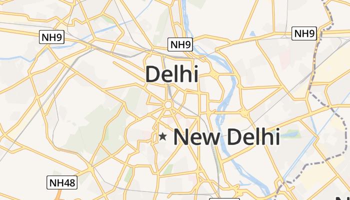 New Delhi online kaart