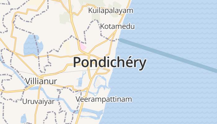Pondicherry online kaart