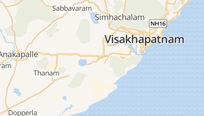 Vishakhapatnam online kaart
