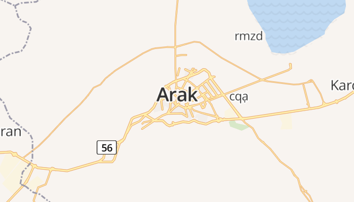 Arak online kaart
