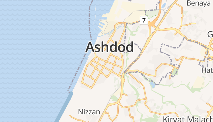 Asjdod online kaart