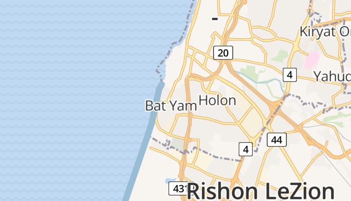 Bat Yam online kaart