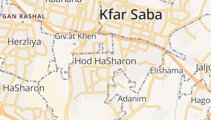 Hod Hasjaron online kaart