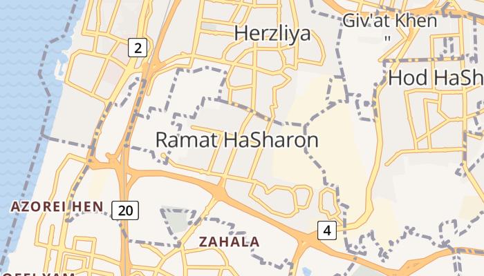 Ramat Hasjaron online kaart