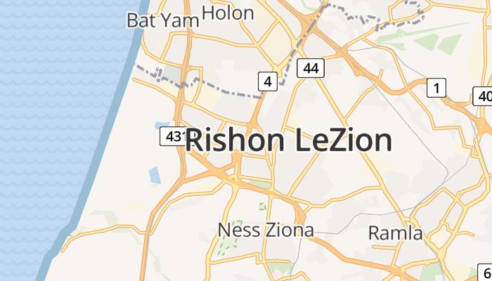 Risjon Letsion online kaart