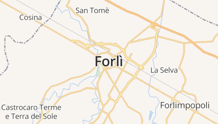 Forlì online kaart
